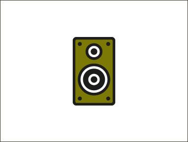 An illustration of a loud speaker.