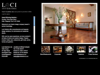Loci Interiors website