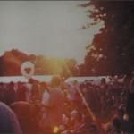 A crowd shot of the Cambridge Folk Festival.